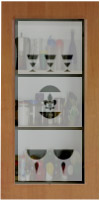Frosted stained glass for kitchen cupboard C-05 vitraj-C-05