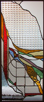 Tiffany type stained glass-C-14